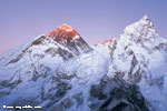 Mt. Everest (8848m), Mt, Nuptse (7861m) from Kalapathar