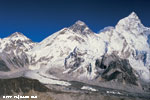 Mt. Everest (8848m), Mt. Nuptse (7861 m) & Everest base camp from Kalapathar